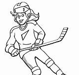 Coloring Hockey Ice Pages sketch template