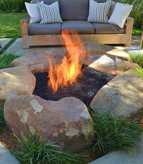 creative  stone fire pit designs backyard diy