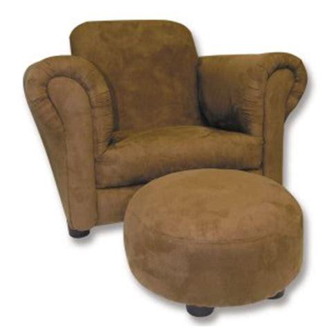 brown ultrasuede stuffed oversized club chair ottoman