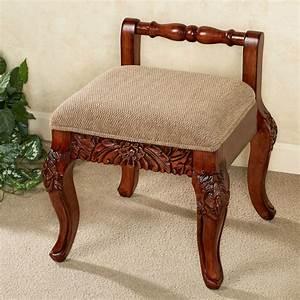 Victoriana, Cushioned, Wood, Vanity, Chair
