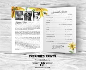 funeral prayer cards daisies modern funeral program celebration of