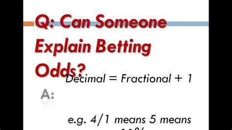 odds betting explain