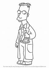 Professor Frink Draw Simpsons Drawing Cartoon Characters Coloring Step Drawings Tutorials Character Animated Movies sketch template