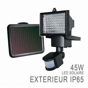 Spot Solaire Extérieur : projecteur led ext rieur solaire rechargeable d tecteur ~ Melissatoandfro.com Idées de Décoration