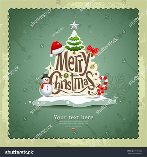 christmas cards shutterstock merry vintage design greeting card stock vector 119783866