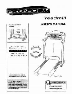 Sears Treadmill 831 299581 User Guide