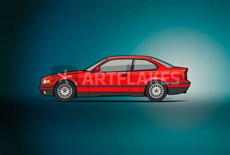 Bmw Posters by Quot Bmw 3 Series E36 Coupe Quot Graphic Illustration