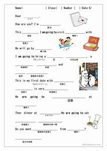 Mad Lib For Japanese Students Be Going To Worksheet