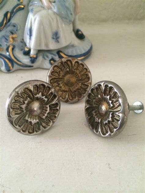 mid century cabinet knob three vintage mid century door knobs deco by