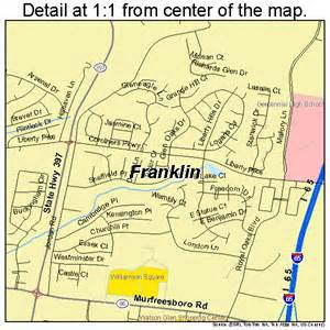 Tennessee Franklin TN Map Cities