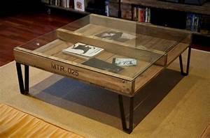 Table Tres Basse : tables basses en bois de palettes tr s originales 20 ~ Teatrodelosmanantiales.com Idées de Décoration