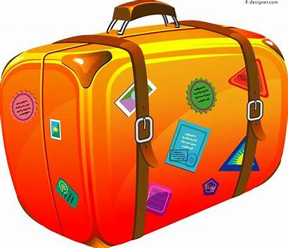 Suitcase Cartoon Vector Material Encyclopedia