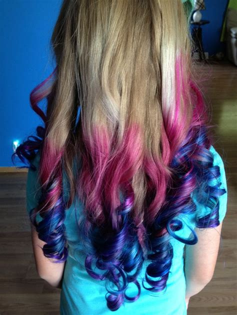 Best 25 Colored Hair Ends Ideas On Pinterest Dip Dye