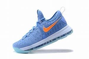 Nike KD 9 University Blue/Orange Men's Basketball Shoes ...