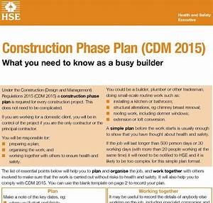 cdm regulations 2015 new hse guides published pp With cdm construction phase plan template