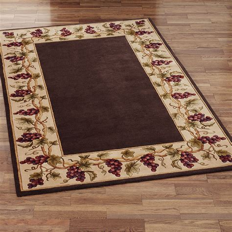 Black Kitchen Area Rugs by Wine And Grapes Kitchen Rugs Search Stuff To
