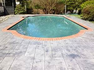 Stamped concrete havertown pa difelice stamped concrete for Pool deck ideas made from concrete