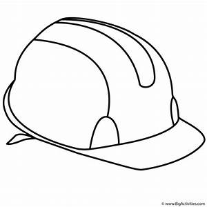 Hard Hat - Coloring Page (Labor Day)