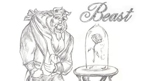 Disney's Beauty And The Beast Speed Drawing The Beast