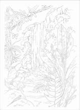 Coloring Pages Numbers Paint Adult Number Tropical Adults Printable Paradise Scenes Books Additional Scene Nature Jungle Inside Bible Patterns Visit sketch template