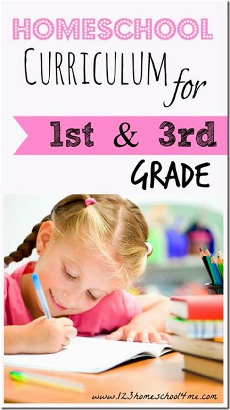 Homeschool Curriculum For 1st And 3rd Grade