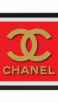 Chanel Red Framed Print