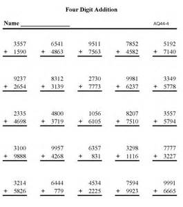 subtraction sums for class 2 bluebonkers free printable math addition sheets addition 4 digit numbers p4
