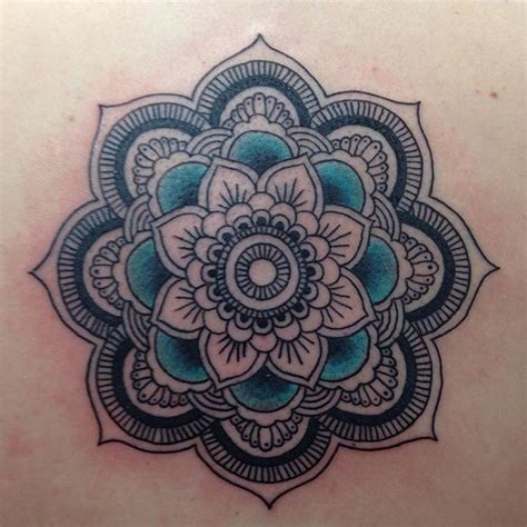 colored mandala tattoos collection