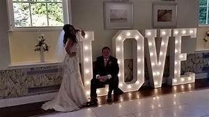 gallery of wedding dj mobile disco wedding entertainment With how to make giant letters for wedding