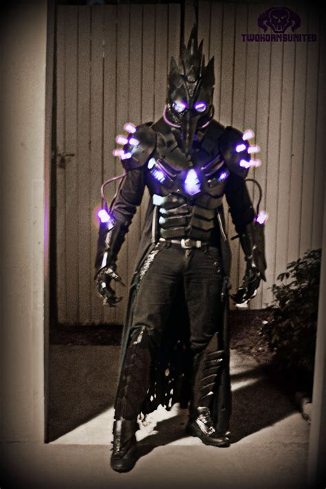 light up costumes the black plague futuristic light up costume by