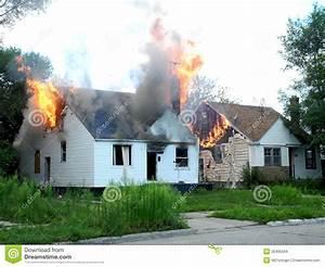Houses On Fire Stock Photo  Image Of Damage  Flames  Smoke