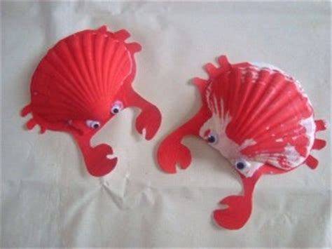 seashell animal craft idea  kids crafts  worksheets  preschooltoddler  kindergarten