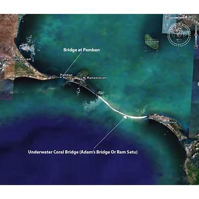 Adam's Bridge 1750000 Year Old Man-Made between