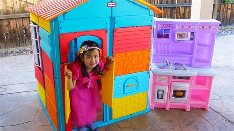 Jannie Pretend Play With Colorful Kids Playhouse Toy  Youtube