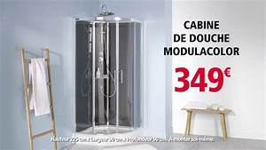 brico depot cabine de douche modulacolor 2 youtube With porte de douche 90x90