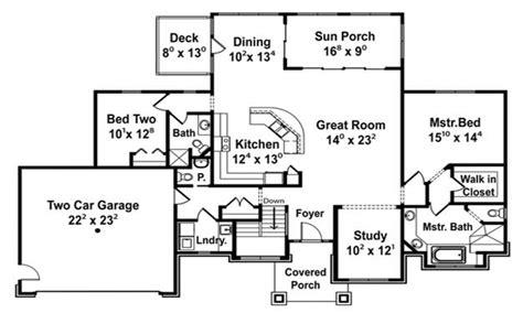 open floor plans open concept floor plans  bedroom cottage house plans treesranchcom