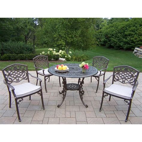 oakland living mississippi 5 patio dining set with