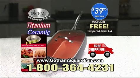 gotham steel square pan tv commercial deep dish square pan ispottv