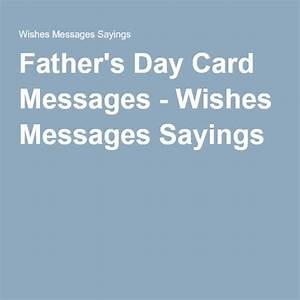Father's Day Card Messages - Wishes Messages Sayings ...