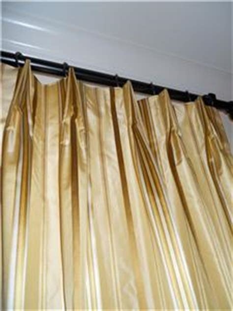 Gold And White Striped Curtains by Taffeta Silk Drapes Designer Striped Curtains Gold Tones
