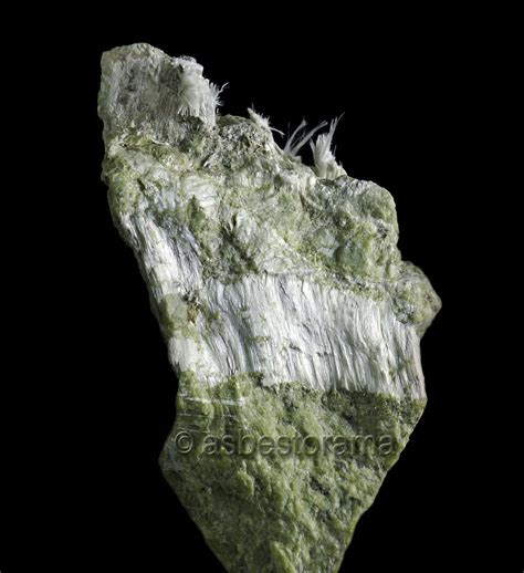 asbestos mineral tremolite hand specimen  amphibole