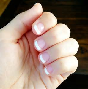 Pics for gt short acrylic nails french manicure