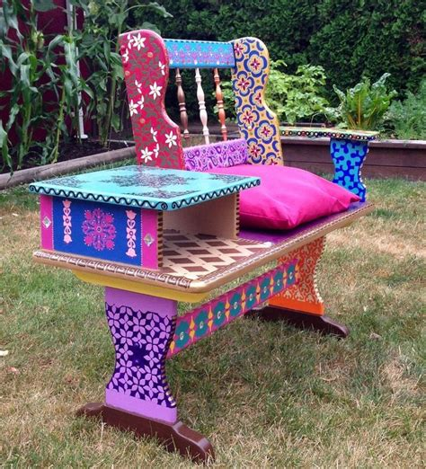 Funky Benches by 17 Best Ideas About Painted Benches On Hobby