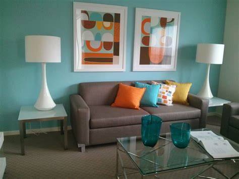 nice skyteal coloured blue feature wall looked good
