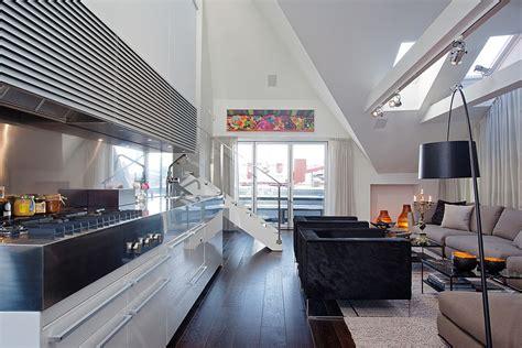 modern penthouse  skylights idesignarch interior