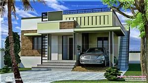 110 square meter small single floor home - Kerala home