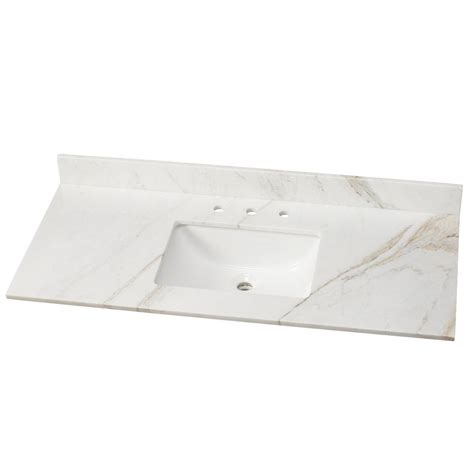 Home Depot Bathroom Sink Tops by Home Decorators Collection 49 In Effects Vanity Top