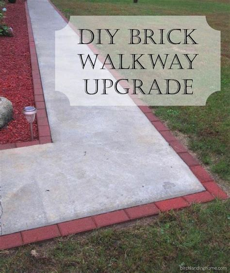 Easy Brick Upgrade For Concrete Walkway  Decks, Walkways. Concrete Paver Patio Construction. Tropical Garden Patio Design. Patio Door Styles. Wood Patio Chair Patterns. Wood Patio Cover Plans Free. Paving Slab Lifting Tool. Outdoor Patio Cover Designs. Patio Slabs Midleton