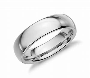 comfort fit wedding ring in white tungsten carbide 6mm With comfort fit wedding rings