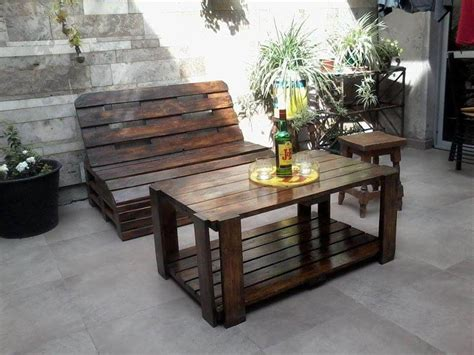 diy outdoor furniture made from pallets pallet wood outdoor furniture set 45691